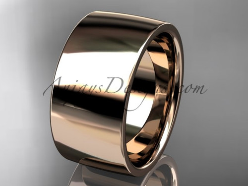 14k rose gold comfort fit 10mm wide wedding band WB50210G
