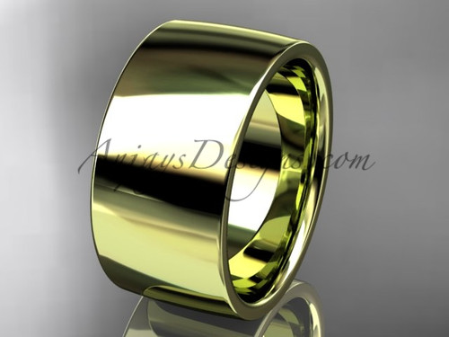 14k yellow gold comfort fit 10mm wide wedding band WB50210G