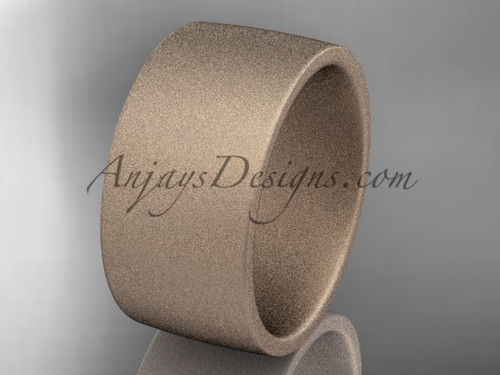matte finish 14k rose gold 10mm  comfort fit ring WB50210G