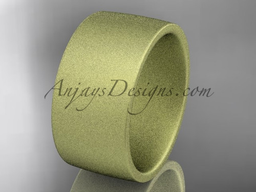 matte finish 14k yellow gold 10mm comfort fit ring WB50210G