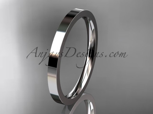 14k White Gold Plain Wedding Band 2mm WB50302G