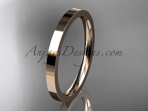 14k rose Gold Plain Wedding Band 2mm WB50302G