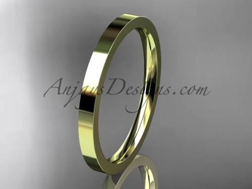 14k yellow Gold Plain Wedding Band 2mm WB50302G