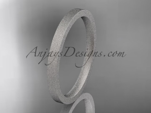 matte finish 14k white gold 2mm  comfort fit ring WB50302G