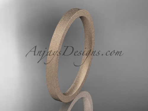 matte finish 14k rose gold 2mm  comfort fit ring WB50302G