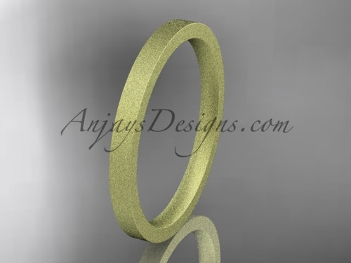 matte finish 14k yellow gold 2mm  comfort fit ring WB50302G