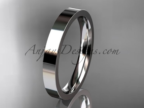 14k White Gold Plain Wedding Band 3mm WB50303G