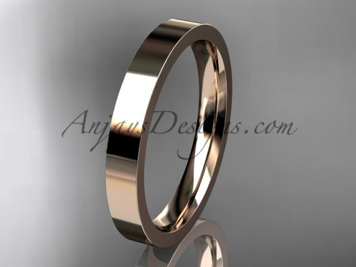 14k rose Gold Plain Wedding Band 3mm WB50303G
