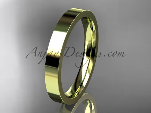 14k yellow Gold Plain Wedding Band 3mm WB50303G