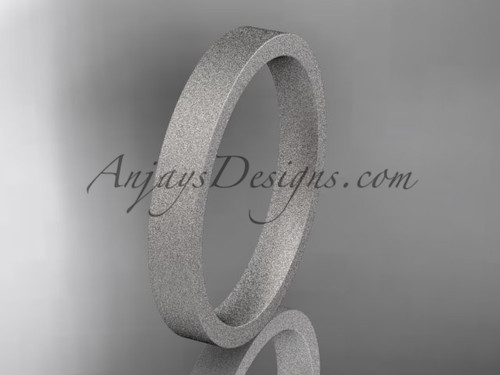 matte finish 14k white gold 3mm  comfort fit ring WB50303G