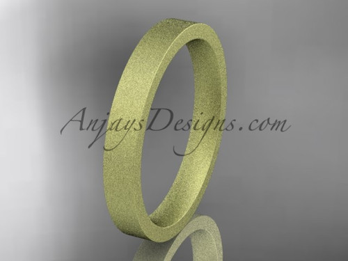 matte finish 14k yellow gold 3mm  comfort fit ring WB50303G