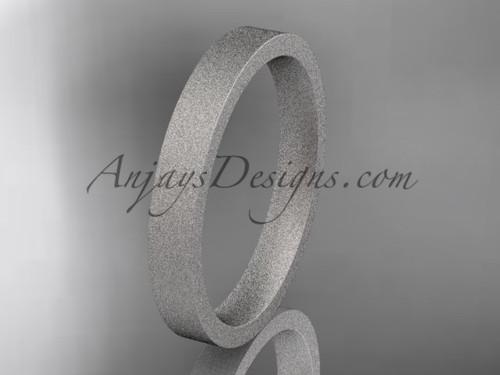 matte finish platinum 3mm  comfort fit ring WB50303G