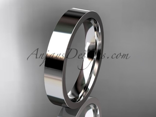 14k White Gold Plain Wedding Band 4mm WB50304G