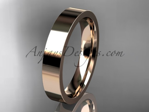 14k rose Gold Plain Wedding Band 4mm WB50304G