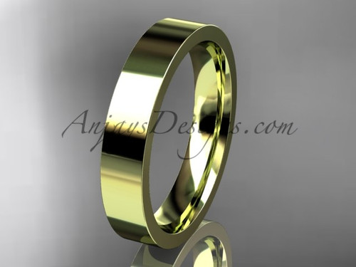 14k yellow Gold Plain Wedding Band 4mm WB50304G