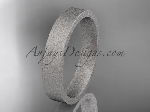 matte finish 14k white gold 4mm  comfort fit ring WB50304G
