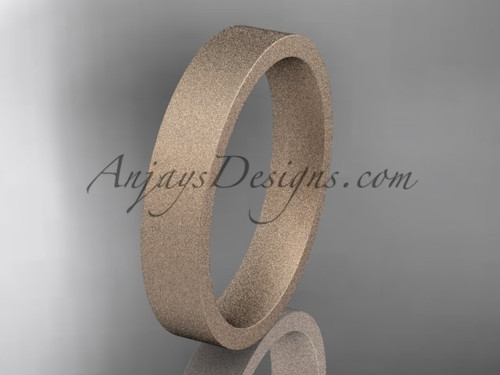 matte finish 14k rose gold 4mm  comfort fit ring WB50304G