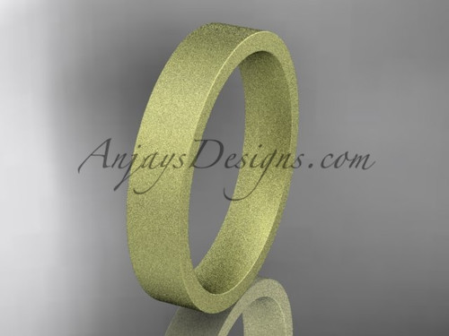 matte finish 14k yellow gold 4mm  comfort fit ring WB50304G