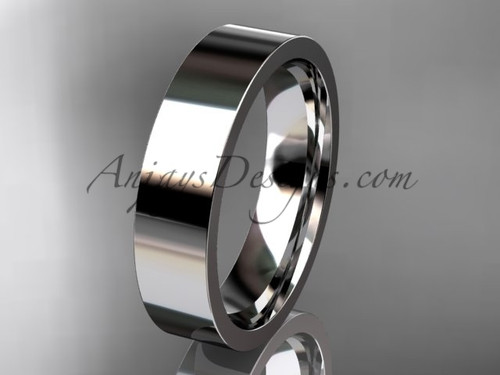 14k White Gold Plain Wedding Band 5mm WB50305G