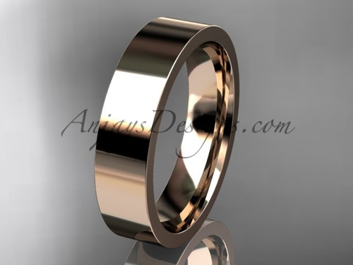 14k rose Gold Plain Wedding Band 5mm WB50305G
