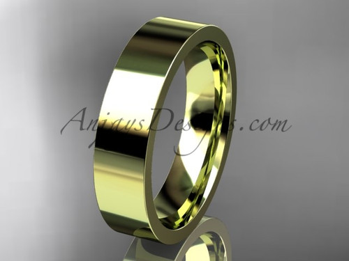 14k yellow Gold Plain Wedding Band 5mm WB50305G