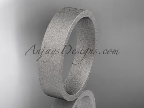 matte finish 14k white gold 5mm  comfort fit ring WB50305G