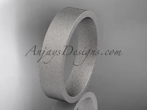 matte finish 14k white gold 5mm  comfort fit ring WB50305G