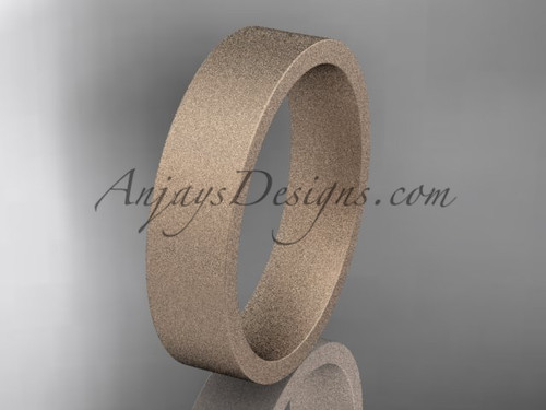 matte finish 14k rose gold 5mm  comfort fit ring WB50305G