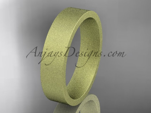 matte finish 14k yellow gold 5mm  comfort fit ring WB50305G