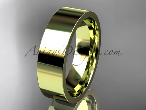 14k yellow Gold Plain Wedding Band 6mm WB50306G