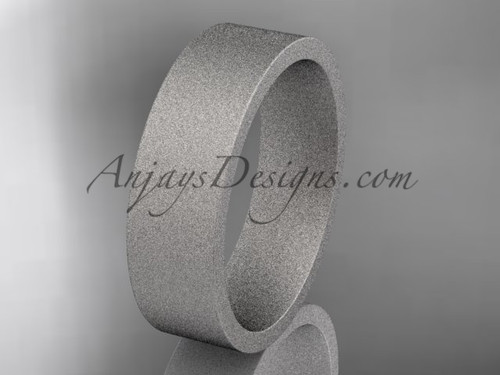 matte finish 14k white gold 6mm  comfort fit ring WB50306G