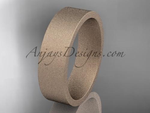 matte finish 14k rose gold 6mm  comfort fit ring WB50306G