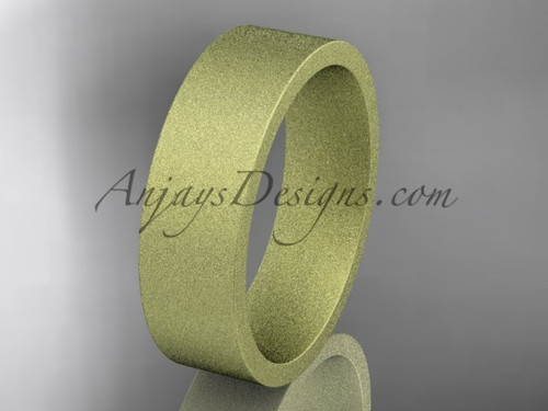 matte finish 14k yellow gold 6mm  comfort fit ring WB50306G