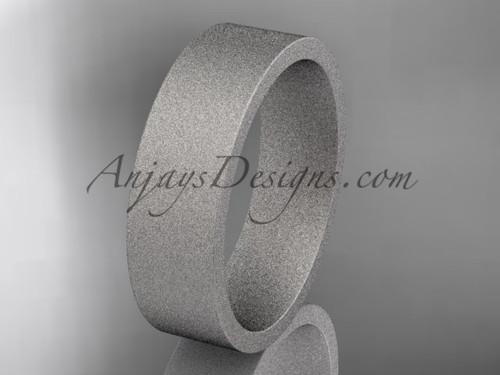 matte finish platinum 6mm  comfort fit ring WB50306G