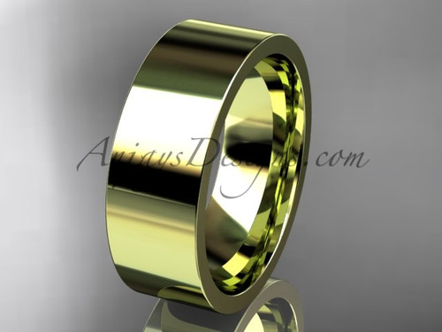 14k yellow Gold Plain Wedding Band 7mm WB50307G