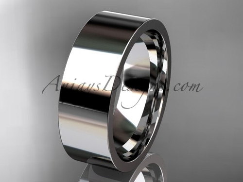 Platinum Plain Wedding Band 7mm WB50307G