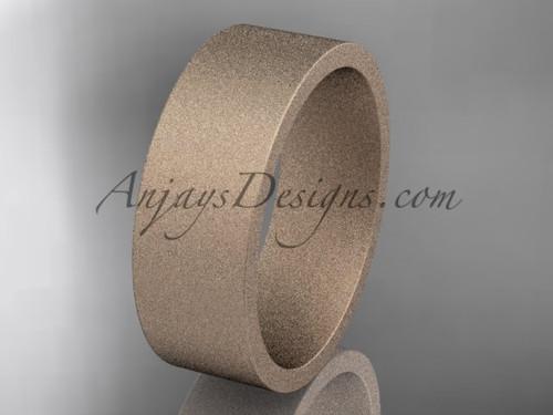 matte finish 14k rose gold 7mm  comfort fit ring WB50307G