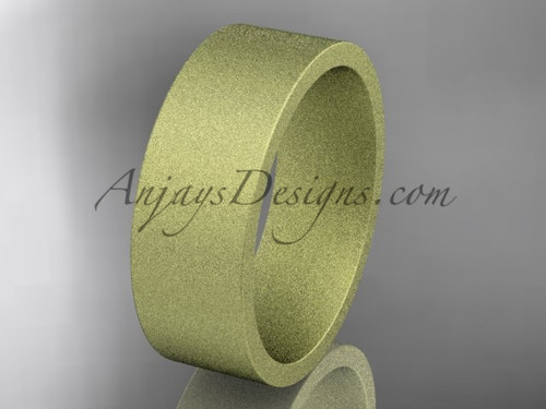 matte finish 14k yellow gold 7mm  comfort fit ring WB50307G