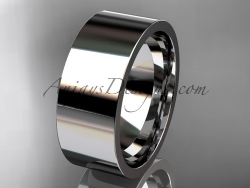 14k White Gold Plain Wedding Band 8mm WB50308G