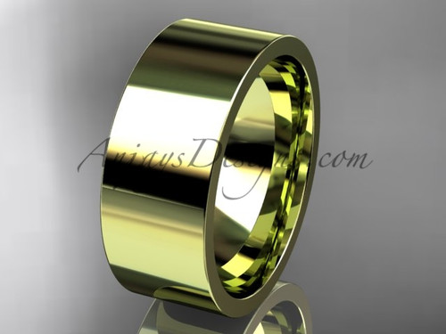 14k yellow Gold Plain Wedding Band 8mm WB50308G