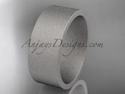 matte finish platinum 8mm  comfort fit ring WB50308G