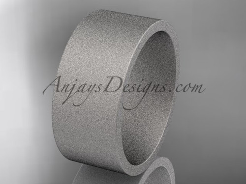 matte finish 14k white gold 9mm  comfort fit ring WB50309G