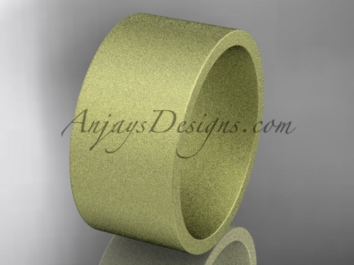 matte finish 14k yellow gold 10mm comfort fit ring WB50310G