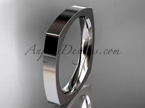 Platinum Square Wedding Band 3mm WB50603G