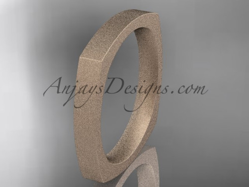 Rose Matte Finish Gold Square Wedding Band 3mm WB50603G