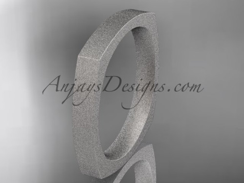 Platinum matte finish Square Wedding Band 3mm WB50603G