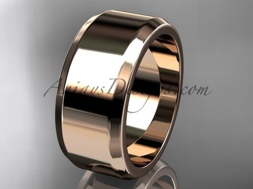 14k rose gold 9mm his and hers wedding band WB50709G