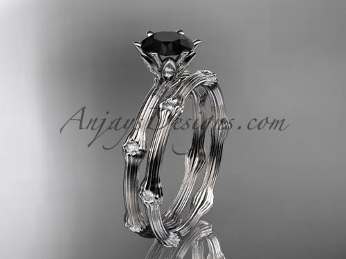Vine Wedding Ring Set Platinum Black Diamond Ring ADLR38S