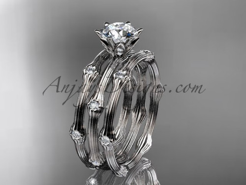 Wedding Ring Sets for Her - White Gold Diamond Ring ADLR38S