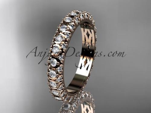 14kt rose gold diamond wedding ring, engagement ring, wedding band, eternity ring ADLR123B